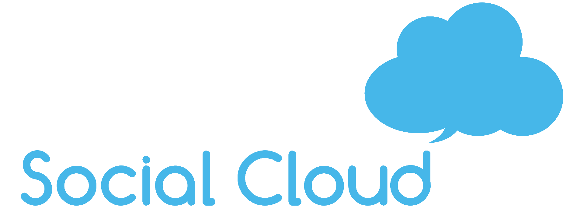 social cloud logo-blue